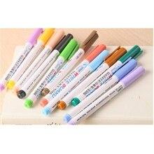 12 Colors/set Whiteboard Marker Non Toxic Dry Erase Mark Sign Fine Nib Set
