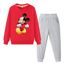 Children Clothing Set Mickey Sweatshirt and Pants Autumn Sport Suit Baby Kids Boy Girl Clothes Set Cartoon Long Sleeve Tracksuit