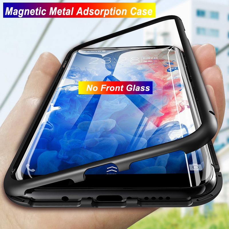 <font><b>360</b></font> Magnetic <font><b>Case</b></font> For Huawei P30 Pro <font><b>Case</b></font> <font><b>P20</b></font> Lite Plus Glass Back Metal <font><b>Cases</b></font> For Huawei P Smart Z 2019 Plus 2018 Mate 30 20 image