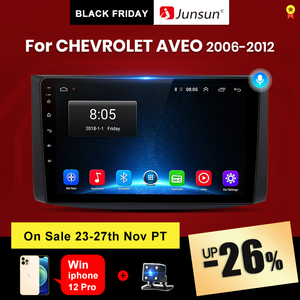 Junsun V1 Pro 4G Android 10.0 4G+64G Car Radio Multimedia Player For Chevrolet AVEO T250 2006 - 2012 GPS Navigation no 2din dvd