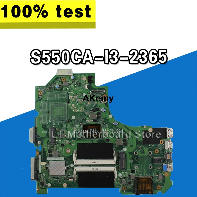 Laptop Motherboard For Asus S550CA I3-2365 System Board Main Board Mainboard Card Logic Board Tested Well Motherboard S-4