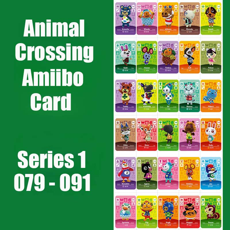 Series 1 #79-91 Animal Crossing Cards Amiibo Card Work For Switch NS 3DS Game Series 1 Dropshipping Animal Crossing Amiibo Cards