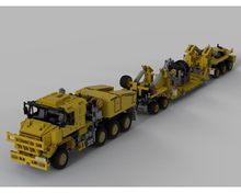 Nowy 2021 technologia klocki do budowy samochodu inżynierii Mop Mop Moc-34732 Oshkosh M1070 Civil wersja Tracker z ciężkich trener