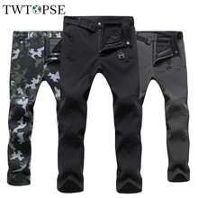 Trousers Cycling Skiing-Pants Fleece Hiking Warm Water-Resistant Winter Windproof Camping