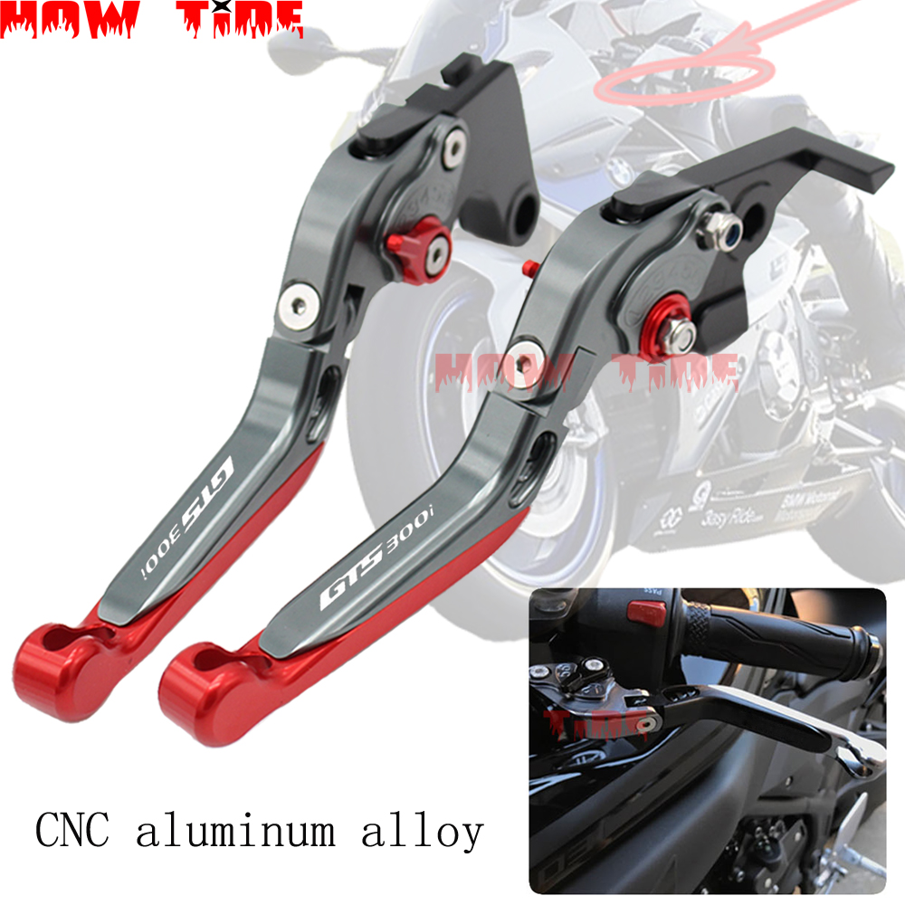 For <font><b>SYM</b></font> GTS300i GTS <font><b>300i</b></font> 2016 2017 2018 GTS 125/250/300 LM30W Motorcycle Accessories CNC Folding Extendable Brake Clutch Lever image