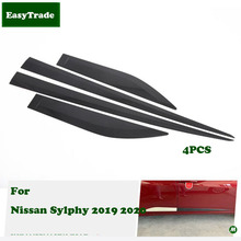 Car styling ABS Chrome Car Door Body Side Protector Trim Strip Anti-rub For Nissan Sylphy 2019 2020 Exterior Accessories цена и фото