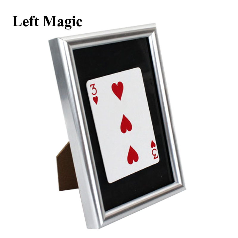Signed Card Thru The Frame Magic Tricks Signed Card Appear Inside Frame Magia Magician Stage Gimmick Prop Illusion Mentalism Fun