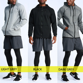 Sports coat Men Hoodies Basketball Training Sportswear Outdoor Run Breathable Quick-drying Fitness Hooded Zip Coat Male