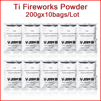 V-SHOW marka ti tozu 10 çantası 200 g/torba malzeme soğuk kıvılcım havai fişek makinesi düğün Sparkular makinesi MSDS