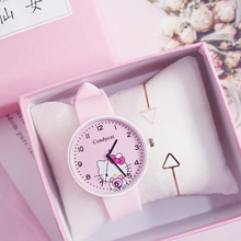 Cute Children Watches Girls Fashion Cartoon Child Kids Bracelet Watch Birthday Party Gift Pink Clock Wristwatch Relogio Feminino