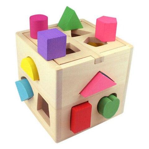 13 buraco caixa de inteligencia geometria casa digital criancas bloco de construcao forma correspondencia puzzle