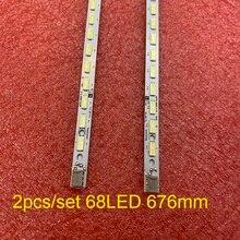 2 unids/set tira de LED para iluminación trasera para SONY KLV 60EX640 KDL 60R550A KDL 60R555A Sharp LC 60LE640U LC 60C6400U LC 60LE751 LE60A5000