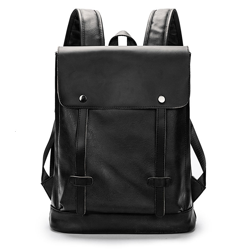 Famous Brand Men Backpack Leather School Backpack Fashion Waterproof Travel Bag Casual Leather Book Bag Male Mochila Masculina