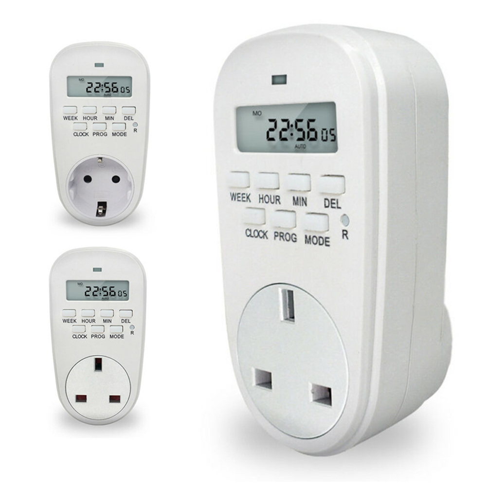 Electronic Outlet Digital Timer 12/24 Hour Switch 7 Day Socket Programmable Digital Timer Digital Timer Socket