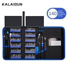 KALAIDUN 140 في 1 طقم مفك برغي توركس بت مفك مسامير بت المغناطيسي الهاتف المحمول multitool إصلاح أدوات يدوية عدة