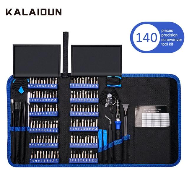 KALAIDUN 140 In 1 Precision Screwdriver Set Torx Bit Screw Driver Bits Magnetic Mobile Phone Multitools Repair Hand Tools Kit
