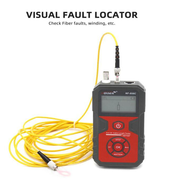 NOYAFA NF-858C Trace Cable Line Locator Portable Wire Tracker Cable Tester Finder Network Cable Testing BNC Measure Cable Length 4