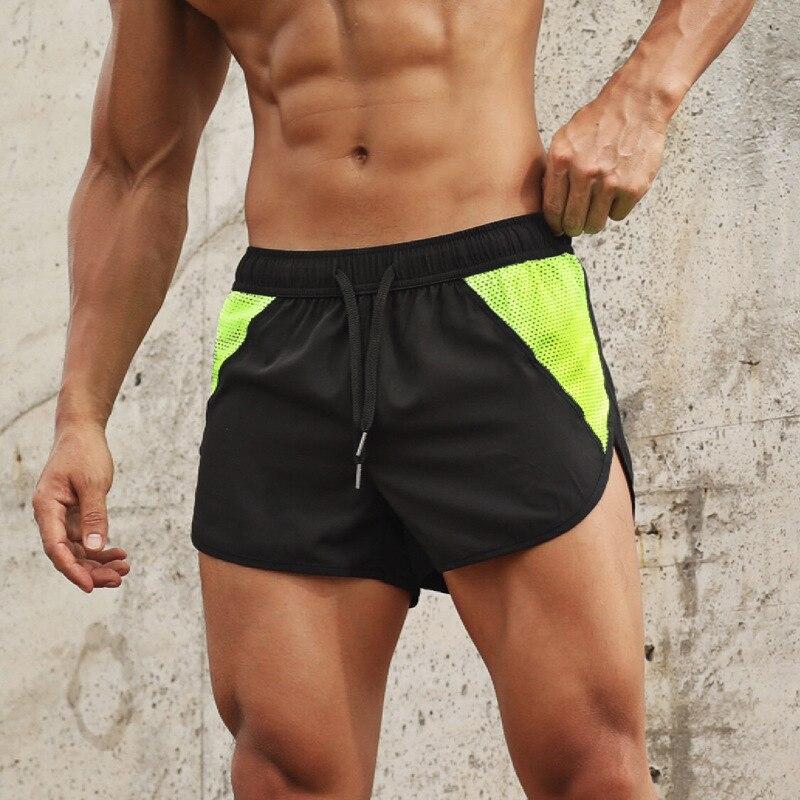 Мужские спортивные шорты для тренажерного зала, быстросохнущие дышащие шорты для бодибилдинга, для лета, 2020