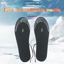 New High-quality USB Heated Shoe Insoles Foot Warming Pad Winter Mat Heater For Outdoor Sports Sitting Or Walking
