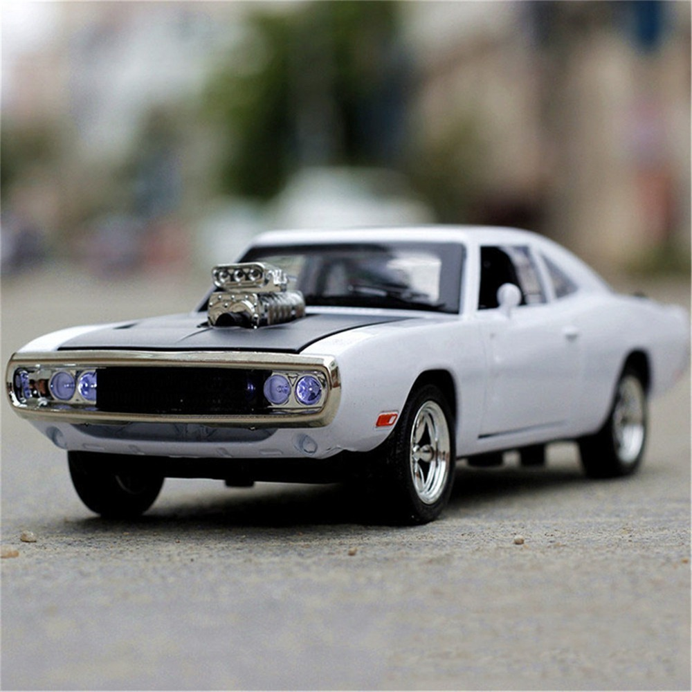 1/32 Fast&Furious Dodge Charger Car Model Diecast Alloy Horses Muscle Vehicle Models With Sound Lighting Toy Gift For Collection 6