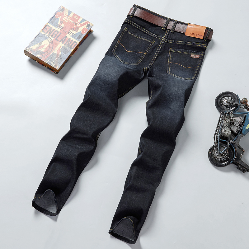 MEN'S Jeans Stretch Pants Men'S Wear Middle-aged 2019 Autumn And Winter Jeans