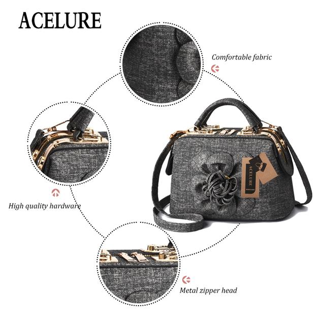 ACELURE Women Bag Leather Handbag Women Shoulder Bag Tote Flowers Shell Sac A Main Femme Messenger Bag Luxury Designer Damskie
