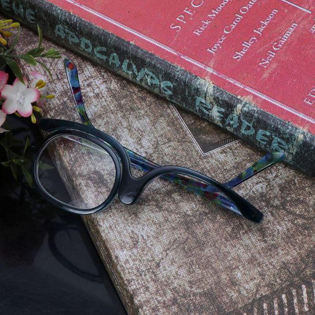 Women Makeup Reading Glasses Rotatable Flip Make Up Eye Glasses Presbyopic +1.00 To +4.0  6