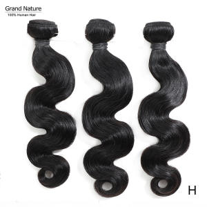 Virgin-Hair Grand Can Bundles Weave Body-Wave Natural-Color Bleach-To-613 High-Ratio
