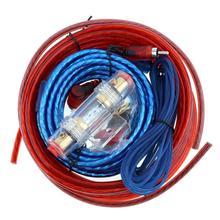 1 juego de Cables de altavoz de coche AMPLIFICADOR DE POTENCIA DE COCHE amplificador de potencia de línea de audio de coche + línea de alimentación adecuado para coche/motocicleta