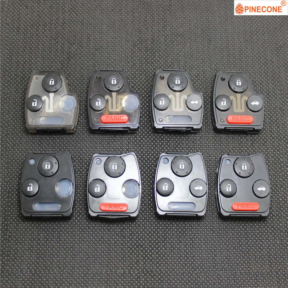 PINECONE Key Pad for <font><b>HONDA</b></font> <font><b>ACCORD</b></font> CIVIC CRV ODYSSEY PILOT FIT 2007 2008 <font><b>2009</b></font> 2010 2011 2012 2013 Replace Key Fob Button 1 Pc image