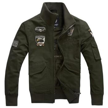 Mens Jackets Coat Cotton Military Army green Khaki Black Windbreaker Casual Coat Jaqueta Masculina Men Brand Clothing Bomber