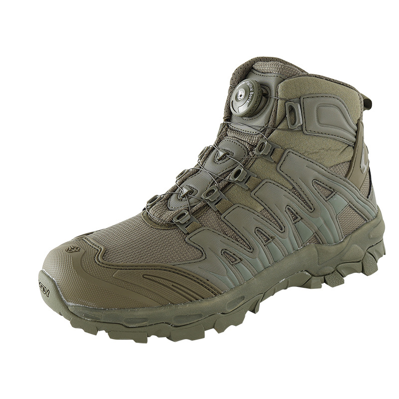 Upgraded Tactics Combat Training Boots Male Outdoors Camping Anti-wear Rapid Response Hiking Shoes Fishing Hunting Sneakers Men