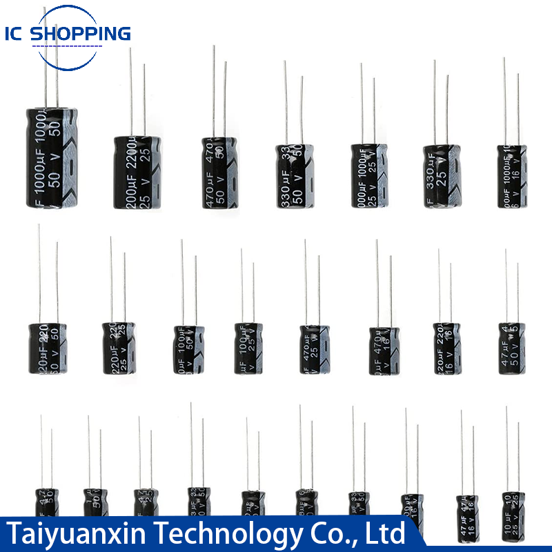 10V 16V 25V 35V 50V 63V Aluminum Electrolytic Capacitor 2.2 3.3 4.7 10 22 33 47 100 220 330 470 1000 2200 3300 4700 6800 10000UF