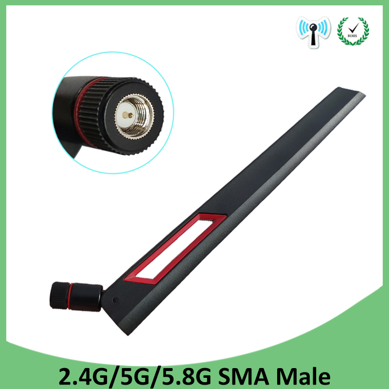 2.4GHz 5GHz 5.8Ghz wifi Antenna real 8dBi SMA Male Connector Dual Band wifi Antena aerial wireless router 2.4 ghz 5.8 ghz