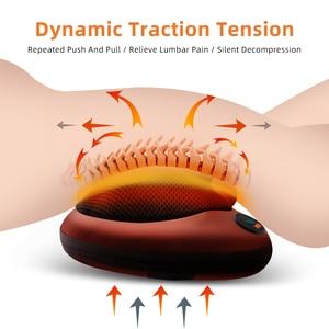 Image 2 - Elektryczna poduszka do masażu wibrator relaks ramię szyja powrót ogrzewanie ciała ugniatanie terapia podczerwienią dla Shiatsu masażer szyi