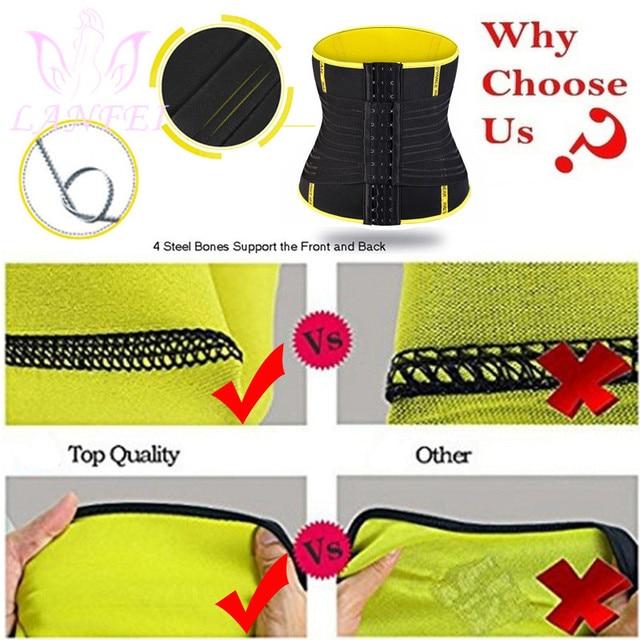 LANFEI Adjustable Double Wasit Trainer Belt Men Slimming Body Shaper Sweat Corset Weight Loss Hot Neoprene Sauna Sport Shapewear 4