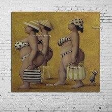 Naakt Olieverf handgemaakte Naakte Vrouw Schilderij Home Decoratie foto Op Canvas Moderne Muur schilderen voor hotel restaurant gift