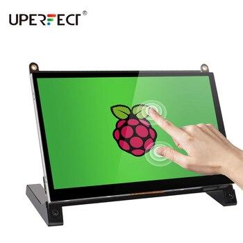 UPERFECT Raspberry Pi Портативный монитор 7 дюймов сенсорный экран Дисплей IPS 1024x600 встроенный двойной колонки для RaspberryPi 4 3 2 Мониторы      АлиЭкспресс