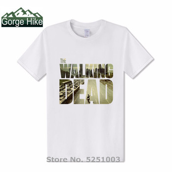 The Walking Dead Movie tshirt Paparazzi T-Shirt Rick Grimes Carl Daryl Michonne zombies Man fashion brand T shirts hot selling image
