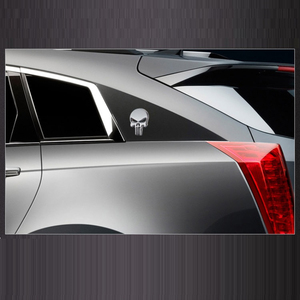 Image 5 - 3D 금속 Punisher 자동차 스티커 해골 오토바이 바디 데칼 트럭 엠블럼 배지 방수 자동차 액세서리