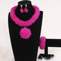 4UJewelry Dudo 2020 Fashion african Bridal jewelry sets Crystal Handmade Wholesale Nigerian Women Party Jewellery Set Dubai