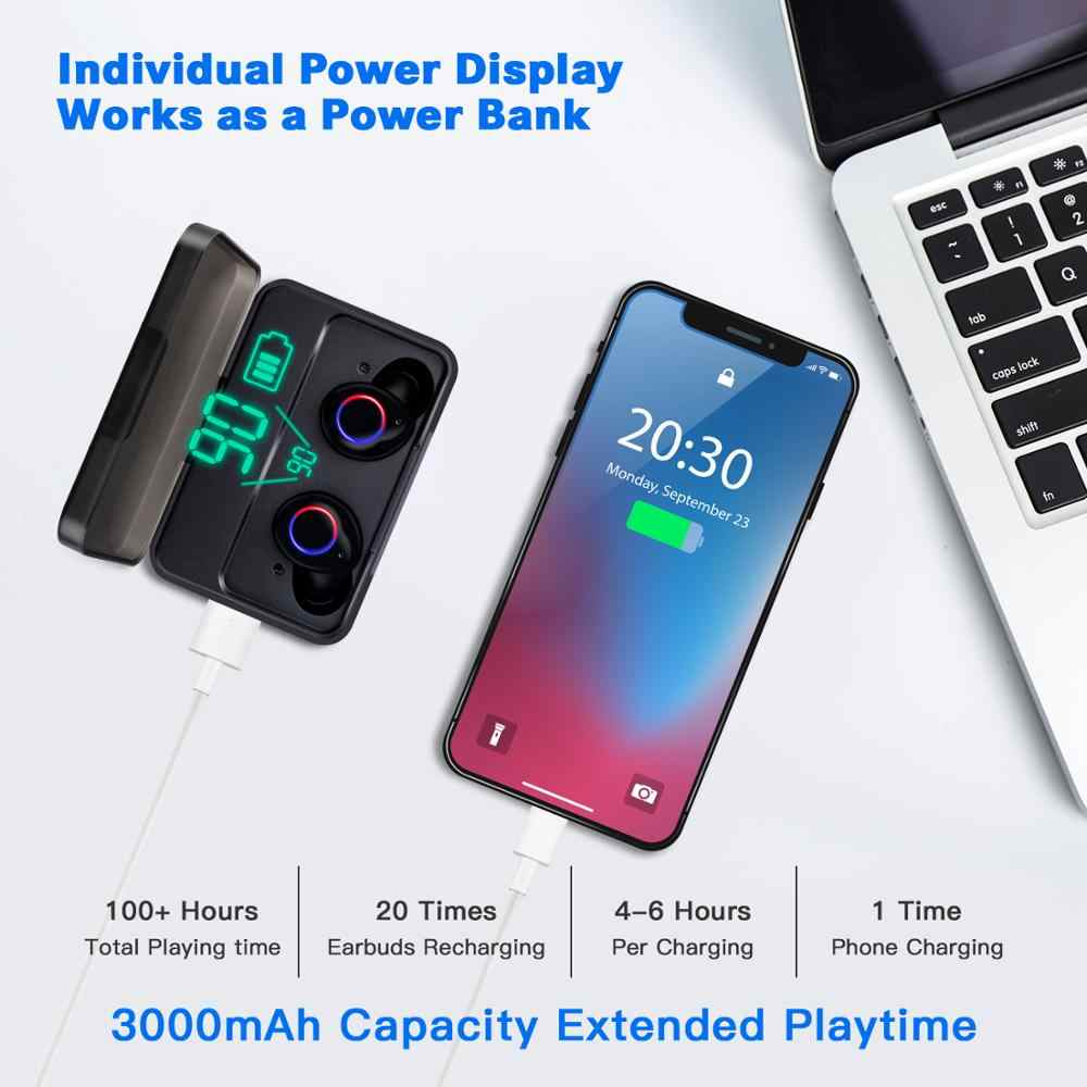 2019 oryginalny dotykowy sylaba B-X01 Bluetooth V5.0 słuchawki 3000mAh prawda bezprzewodowe słuchawki stereo B-X01 dotykowy zestaw słuchawkowy Bluetooth