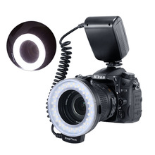 RF-550D 48pcs Macro LED Ring Flash Bundle with 8 Adapter for Canon Nikon Pentax Olympus Panasonic DSLR Camera V HD130