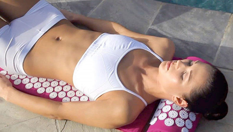 acupressure massage yoga mat pad, acupressure, nbsp, points, more, cushion, pillow, back, neck, relieve, convenient - H0ff623566a934001a6748d537bc3b9bdq - Acupressure Massage Yoga Mat Pad - Fititudestore