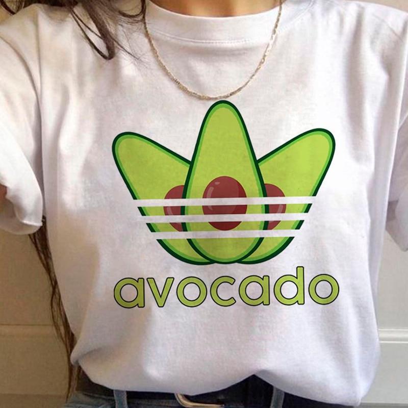 Avocado T Shirt Tee Shirt Clothes Male New Femme Fashion Harajuku 90s Top Grunge Ulzzang Graphic Tshirt Kawaii Women T-shirt