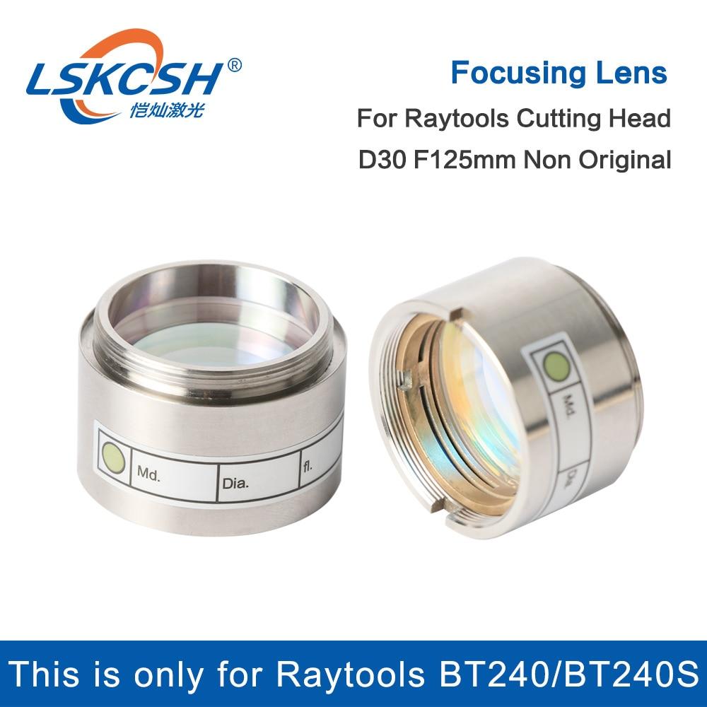 Lskcsh fibra laser lente de foco d30 f125mm com suporte de lente para raytools cabeça de corte a laser bt240/bt240s agentes querem atacado