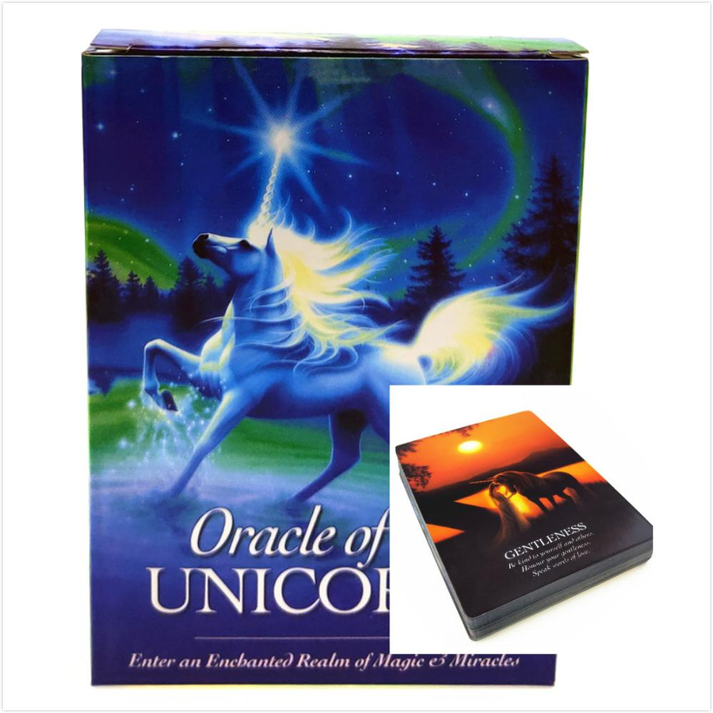 Full English UNICORNS Oracle Cards Deck Divination Cards Mystic Fate Board Game For Women