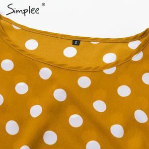 Image 4 - Simplee אלגנטי פולקה נקודות מקסי שמלה בוהמי אונליין o צוואר ארוך שמלת המפלגה שמלת עבודה ללבוש שיק סתיו ארוך שמלות הערב