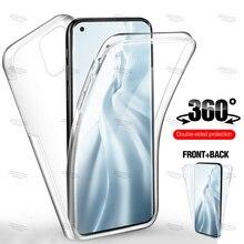 For Xiaomi Mi 11 6.81 inch  Double Side Silicone TPU Transparent Coque for xiaomi mi 10 t lite redmi note 10 9 pro max Cover