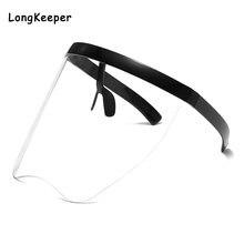 Модные прозрачные солнцезащитные очки для женщин и мужчин большого